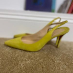 Christian Louboutin Apostrophy Suede Slingbacks